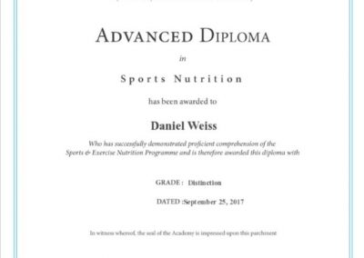 advanced diploma in sports nutrition